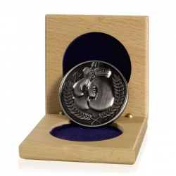 60mm Silver Boxing Medals