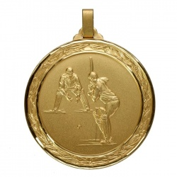 60mm Gold Cricket Medal