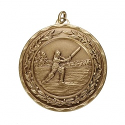 50mm Bronze Cricket Medal