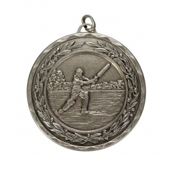 50mm Silver Cricket Medal