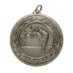 50mm Silver Martial Arts Medal