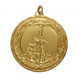 50mm Gold Rugby Medal