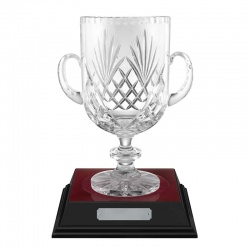 11in Lead Crystal Handcut Loving Cup