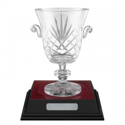 9.25in Lead Crystal 'Liberty' Trophy Vase