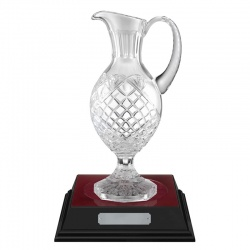 12in Lead Crystal Panel Claret Jug