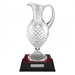 14.75in Lead Crystal Panel Claret Jug