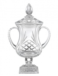 Lead Crystal Lidded Trophy Cup - Buckingham