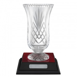 10in Lead Crystal Awards Vase - Fuji