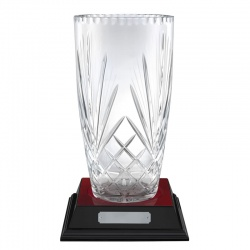 12in Crystal Presentation Vase - Pompeii