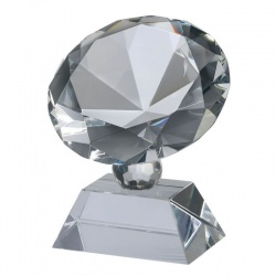 3.5in Glass Diamond Award