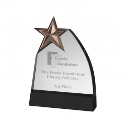 Glass Plaque Star Award GLC009A
