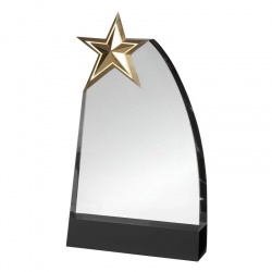 Glass Plaque Star Award GLC009C