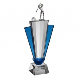 Clear & Blue Glass Golf Award