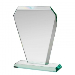 Jade Glass Tapered Award Plaque