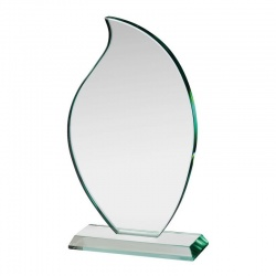Flame Award in 12mm Jade Glass