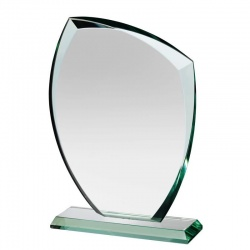 6.5in Jade Glass Autumn Leaf Award