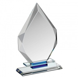 Clear & Blue Glass Award HC018