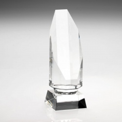 7in Clear Glass Hexagon Award