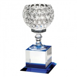 7.75in Glass Golf Ball Vase Award