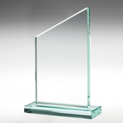 Slope Awards Plaque in 15mm Jade Glass