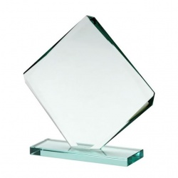 Facet Cube Award in 10mm Jade Glass