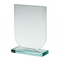 Shield Award in 10mm Jade Glass