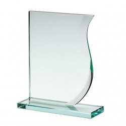 5in Wave Award in 10mm Jade Glass