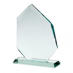 6in Iceberg Award in 10mm Jade Glass