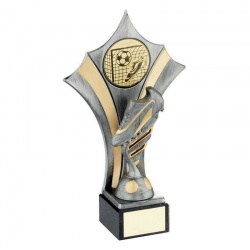 Football Boot Trophy in Pewter & Gold Colour