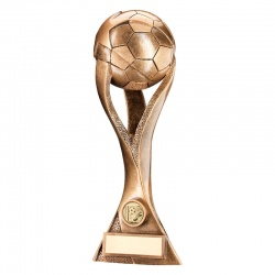 13.5in Resin Bronze/Gold Football Trophy