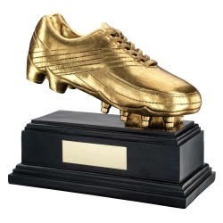 Football Golden Boot Trophy in Antique Gold