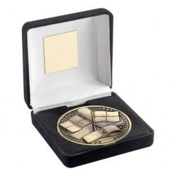 70mm Football Match Officials Medal in Black Box