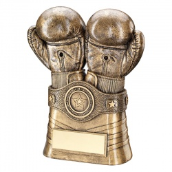 Resin Bronze Boxing Gloves Trophy