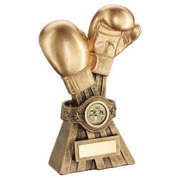 Resin Boxing Golden Gloves Trophy