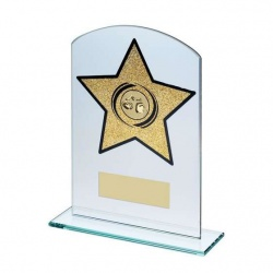Boxing Glass Plaque with Gold Star