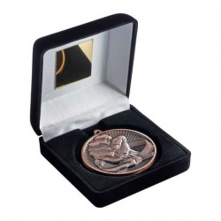 Bronze Martial Arts Medal in Black Case