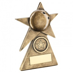 Resin Bronze Ten Pin Bowls Star Award