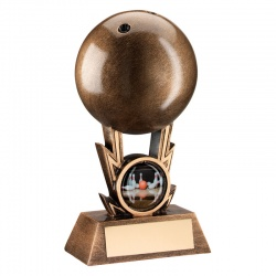 Resin Bronze Ten Pin Bowling Trophy
