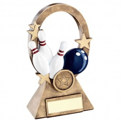 Tenpin Bowling Oval Stars Awards Trophy