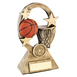 Basketball Oval Stars Trophy