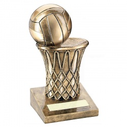 Resin Netball Trophy with 3D Ball