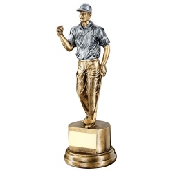 Resin Silver & Gold Golf Figure Trophy RF721