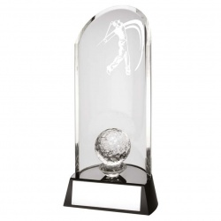 Clear Glass Arc Golf Trophy TD132
