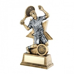 Tennis Male Figure Trophy with Star