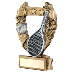 Tennis Resin Gold Three Star Wreath Trophy