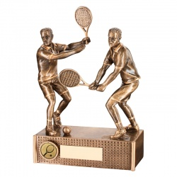 6.75in Resin Male Tennis Doubles Trophy