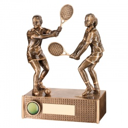 6.75in Resin Women's Tennis Doubles Trophy