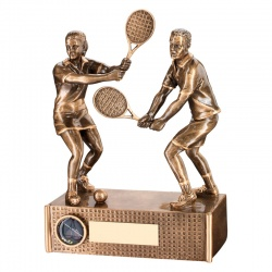 6.75in Resin Tennis Mixed Doubles Trophy