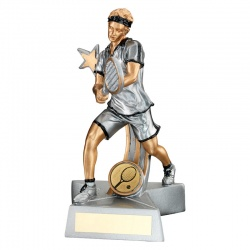 7in Mens Tennis Player Trophy