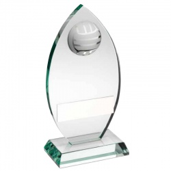 8.5in Gaelic Football Jade Glass Plaque